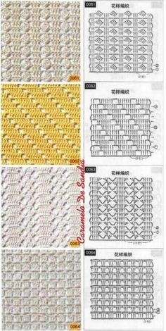 Knitting and Crochet Patterns for your designs. They will help you with crochet scheme. Filet Crochet, Crochet Stitches Chart, Crochet Motif Patterns, Crochet Diagram, Crochet Designs, Stitch Patterns, Knitting Patterns, Confection Au Crochet, Crochet Instructions