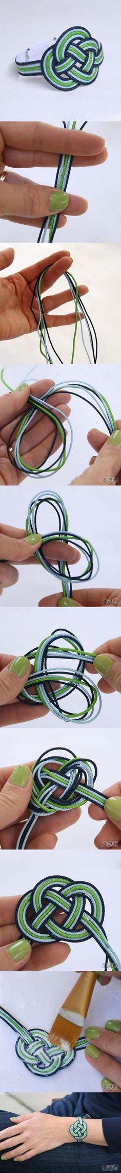 Fabriquer un bracelet de l'amour.