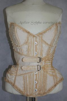 Tea dying ovebust corset in pirate by AtelierSylphecorsets on Etsy, $499.00