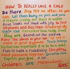 The Funny Moms and Kids Blog: How to really love a child