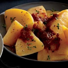 """Baked Rutabaga with """"Red-Eye"""" Tomato Sauce 