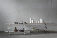 Mixrack shelves are light and slender objects to suit various kinds of spaces. Free Standing Shelves, Nordic Lights, Objects, Cool Stuff, Shelf, Inspiration, Furniture, Finland, Showroom