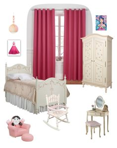 """""""Girls room"""" by patricia-krom on Polyvore featuring interior, interiors, interior design, home, home decor, interior decorating, Flash Furniture, Powell Furniture, Teamson Design and Petunia Pickle Bottom"""