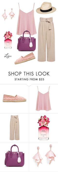 """Easy Breezy"" by coolmommy44 ❤ liked on Polyvore featuring Castañer, Topshop, A.L.C., Marc Jacobs, MCM, Oscar de la Renta Pink Label, Roxy and espadrilles"