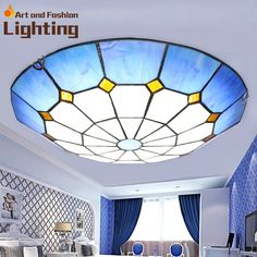 76.00$  Buy now - http://alipo8.worldwells.pw/go.php?t=32366313625 - Special art Blue Sky ceiling light Modern compass new design LED light 76.00$