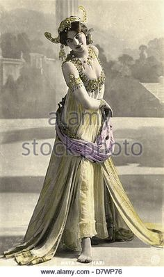 Margaretha Geertruida Zelle - Mata-Hari Dutch dancer and spy French poscard XIX th Century - Stock Image