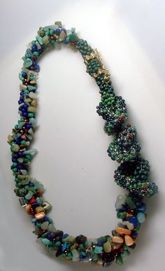 Martha Aleo created this intricate piece with beads from Your Beading Heart!