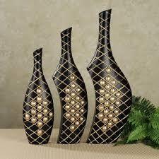 Connectivity Triple Vase Set - Table and Floor Vases - Home Accents - Touch O. Glass Bottle Crafts, Bottle Art, Vase Crafts, Magazine Crafts, Painted Wine Bottles, Cardboard Art, Newspaper Crafts, Altered Bottles, Recycled Bottles