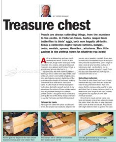 Collectors Chest Plan - Woodworking Plans