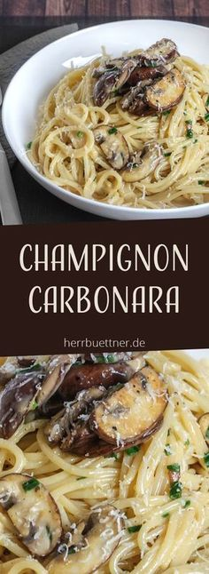 - Foooooood :D - Vegetarische Carbonara mit Champignons und Schnittlauch. Informations About Champignon Carbonara … - Pizza Recipes, Easy Dinner Recipes, New Recipes, Vegetarian Recipes, Easy Meals, Healthy Recipes, Lunch Recipes, Summer Recipes, Summer Desserts