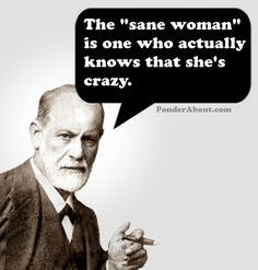 That's me. You're insane if you think you aren't crazy when you are. I've said I was crazy from day one soooo... yeah.