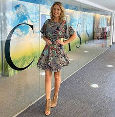 Charlotte Hawkins shocks fans in a leopard print mini dress | HELLO! Charlotte Hawkins, Forever Unique, Date Night Dresses, Tv Presenters, Flare Skirt, Her Style, Fashion Forward, Celebrity Style, Wrap Dress