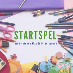 Startspel om de nieuwe klas te leren kennen | De juffrouw zegt Starting School, Beginning Of The School Year, First Day Of School, Educational Leadership, Educational Technology, High School Counseling, Co Teaching, Back 2 School, Mobile Learning