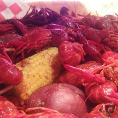 The final test...crawfish! Not bad...but not quite as good as our louisiana mudbugs. #crawfish