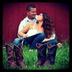 Would be cute to have his dress shoes and my boots, just to show our difference, but still in love :)