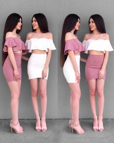 1 or 2 . 🌸 Tag your BFF 👯✨ We love our dresses from Twin Outfits, Trendy Outfits, Girl Outfits, Summer Outfits, Cute Outfits, Sexy Dresses, Cute Dresses, Beautiful Dresses, Fashion Dresses