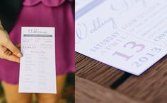 Wedding Invitation and Ceremony Card. victoriawigzelldesign.co.nz