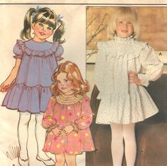 Butterick 4676 Sewing Supply DIY Children's Dress For Sale by SharPharMade