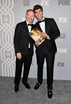 2013 Emmys After-Parties Pictures, Emmy Awards Party Pics - Jesse Tyler Ferguson and Justin Mikita | Gossip Cop