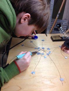 Spinneweb solderen, zware inspanning