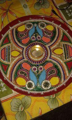 mast decorated pooja thali