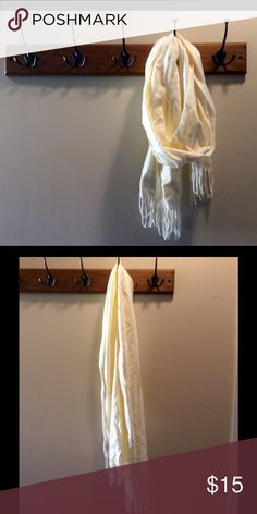 Cream Ivory Soft Scarf Cream Ivory Soft Scarf. In excellent preowned condition! Accessories Scarves & Wraps