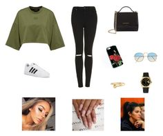 """Untitled #590"" by azharkrymova-1 on Polyvore featuring Topshop, adidas, Givenchy, Rolex, J.W. Anderson and By Charlotte"