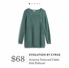 Stitch Fix: Avianna Textured Cable Knit Pullover $68