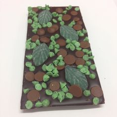 Dark chocolate spearmint leaves mini mint chips and milk choc chips!  #gottaloveit #food #foodporn #sweets #foodpics #spearmint #mintchocolate #handcrafted #fooddelivery #aussie