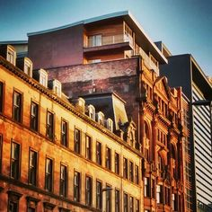 A little gem I found during an autumn afternoon walk: old meets new in Glasgow.