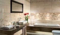 Amenajari gresie si faianta baie Italia - Traviata Tubadzin Metroid, Corner Bathtub, Double Vanity, Perfume, Flooring, House, Design, Google, Bathrooms