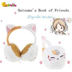 Natsume's Book of Friends Nyanko-sensei Plush Winter Earmuff Warm b2