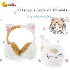 Natsume's Book of Friends Nyanko-sensei Plush Winter Earmuff Warm b2