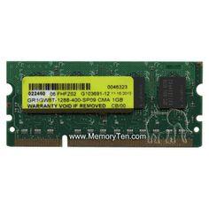 1GB Dell PC2-3200 DDR2-400 144-pin SDRAM SODIMM (p/n 330-5857)