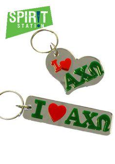 Alpha Chi Omega Greek Love Keychain-On sale this week! (1/20-1/26/13)