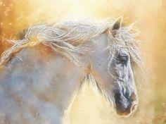 White Arabian Horse by ourdayart on Etsy