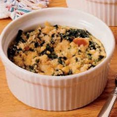 Creamed Spinach Casserole Recipe | Taste of Home Recipes
