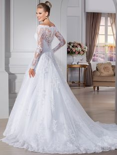 Hot Sale Scoop See Through Long Sleeves Lace Appliques Plus Size Wedding Dresses Zipper Back Custom Made Robe De Mariage Casamento 2016 Italian Wedding Dresses, 2015 Wedding Dresses, Elegant Wedding Dress, Bridal Dresses, Bridesmaid Dresses, Lace Wedding, Modest Wedding, Gown Wedding, Trendy Wedding