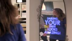 This Mirror Showers You With Compliments