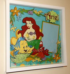 3D Ariel and Friends Shadow Box Layout