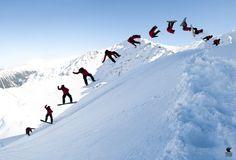 #snowboard #backflip #powder #sequnce