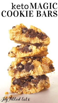 Magic Cookie Bars - Low Carb Keto Gluten-Free Grain-Free THM S - When you sink your teeth into these incredible bars. Keto Friendly Desserts, Low Carb Desserts, Low Carb Recipes, Cooking Recipes, Healthy Recipes, Dessert Recipes, Breakfast Recipes, Cooking Tips, Healthier Desserts