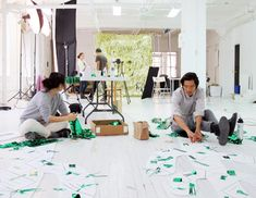 Inside the Confetti System studio in New York via Design Files