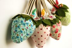 fabric strawberries - so sweet