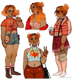 Art of Annalise — Human Flame Princess, whom I previously drew here. Character Drawing, Character Concept, Concept Art, Cartoon Kunst, Cartoon Art, Art Sketches, Art Drawings, Fashion Sketches, Creation Art