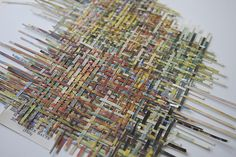 Larissa Nowicki, 'Unfinished weaving', Book pages hand woven to reassemble with no adhesives, dimensions variable, 2013