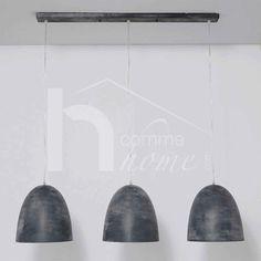 Luminaire suspension design gris CLAUDIO, 3 lampes