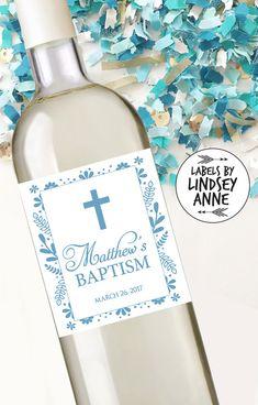 First Communion Wine Labels Baptism Wine by LabelsByLindseyAnne - Labels By Lindsey Anne - LBLA