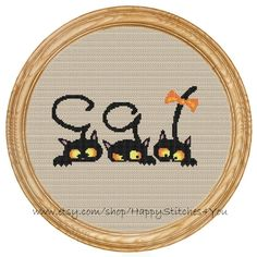 Cross Stitch Pattern PDF cats DD0026