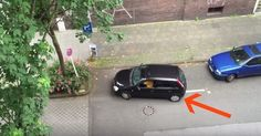 As the Woman Tries to Park, Her Neighbor Secretly Films. At 1:40 You Can't Stop Laughing!